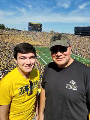 Dad & Son at the Big House attended University of Michigan vs. Army - NCAA Football **military Appreciation Game** on Sep 7th 2019 via VetTix
