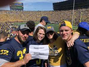 Jennifer attended University of Michigan vs. Army - NCAA Football **military Appreciation Game** on Sep 7th 2019 via VetTix