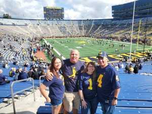 Michael Sanchez  attended University of Michigan vs. Army - NCAA Football **military Appreciation Game** on Sep 7th 2019 via VetTix
