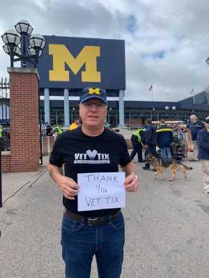 Allen attended University of Michigan vs. Army - NCAA Football **military Appreciation Game** on Sep 7th 2019 via VetTix