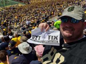 Brandon attended University of Michigan vs. Army - NCAA Football **military Appreciation Game** on Sep 7th 2019 via VetTix