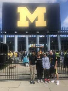 Danielle attended University of Michigan vs. Army - NCAA Football **military Appreciation Game** on Sep 7th 2019 via VetTix