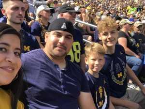 Josue attended University of Michigan vs. Army - NCAA Football **military Appreciation Game** on Sep 7th 2019 via VetTix