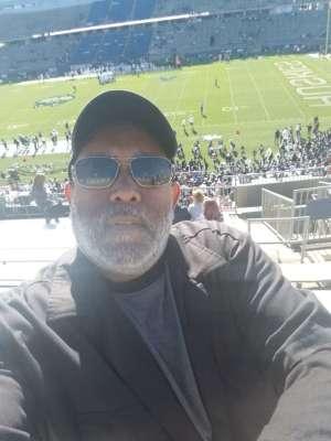 James attended University of Connecticut Huskies vs. USF Bulls - NCAA Football on Oct 5th 2019 via VetTix