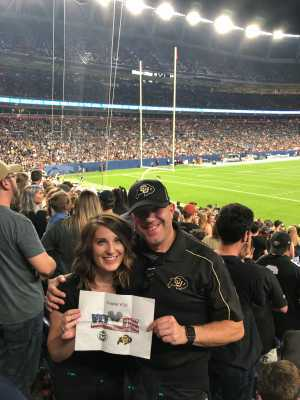 Scot F. attended Colorado Buffaloes vs. Colorado State - NCAA Football on Aug 30th 2019 via VetTix