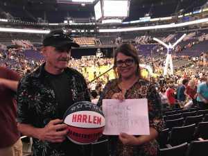 RoseAnne attended Harlem Globetrotters on Aug 24th 2019 via VetTix