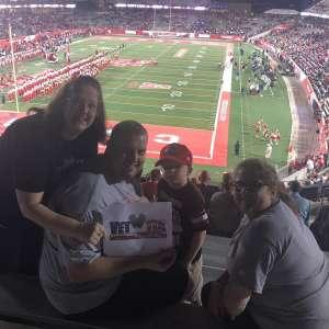 Sarah attended University of Houston Cougars vs. Navy - NCAA Football on Nov 30th 2019 via VetTix