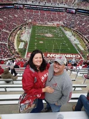 Bethany attended Alabama Crimson Tide vs. Western Carolina - NCAA Football on Nov 23rd 2019 via VetTix