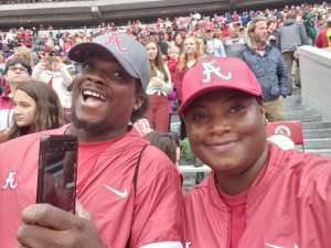 Grateful Wife & Mom in Florida~ Ytearie  attended Alabama Crimson Tide vs. Western Carolina - NCAA Football on Nov 23rd 2019 via VetTix