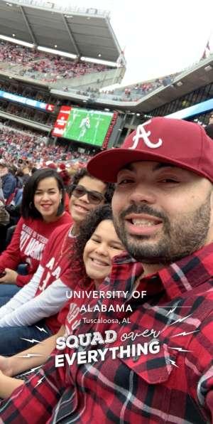 Luis attended Alabama Crimson Tide vs. Western Carolina - NCAA Football on Nov 23rd 2019 via VetTix