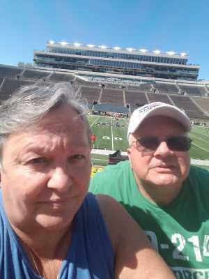 Mr & Mrs B attended University of Notre Dame Fightin Irish vs. New Mexico - NCAA Football on Sep 14th 2019 via VetTix