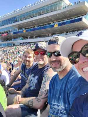 Jeremy attended University of Notre Dame Fightin Irish vs. New Mexico - NCAA Football on Sep 14th 2019 via VetTix