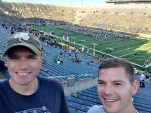 Ryan attended University of Notre Dame Fightin Irish vs. New Mexico - NCAA Football on Sep 14th 2019 via VetTix