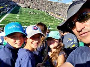 Jamil attended University of Notre Dame Fightin Irish vs. New Mexico - NCAA Football on Sep 14th 2019 via VetTix