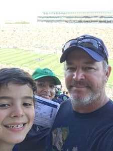 Liliana attended University of Notre Dame Fightin Irish vs. New Mexico - NCAA Football on Sep 14th 2019 via VetTix