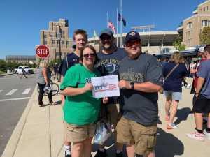 Richard attended University of Notre Dame Fightin Irish vs. New Mexico - NCAA Football on Sep 14th 2019 via VetTix