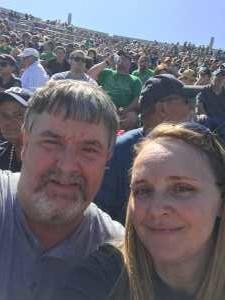 Listenberger Family  attended University of Notre Dame Fightin Irish vs. New Mexico - NCAA Football on Sep 14th 2019 via VetTix