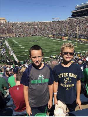 Danny attended University of Notre Dame Fightin Irish vs. New Mexico - NCAA Football on Sep 14th 2019 via VetTix