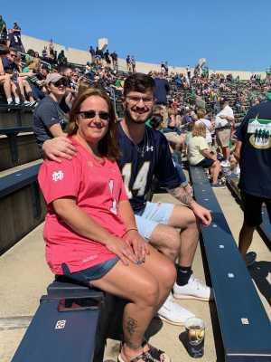 Luis attended University of Notre Dame Fightin Irish vs. New Mexico - NCAA Football on Sep 14th 2019 via VetTix