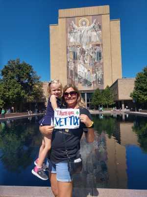 Jean attended University of Notre Dame Fightin Irish vs. New Mexico - NCAA Football on Sep 14th 2019 via VetTix
