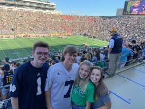 Jared attended University of Notre Dame Fightin Irish vs. New Mexico - NCAA Football on Sep 14th 2019 via VetTix