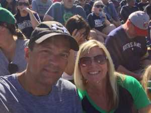 rick attended University of Notre Dame Fightin Irish vs. New Mexico - NCAA Football on Sep 14th 2019 via VetTix