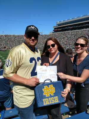 William attended University of Notre Dame Fightin Irish vs. New Mexico - NCAA Football on Sep 14th 2019 via VetTix