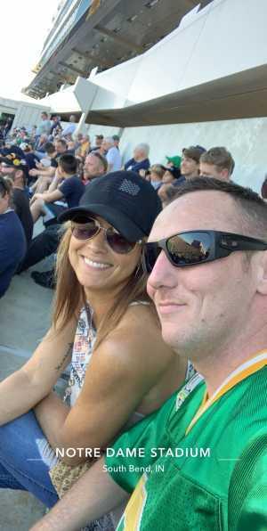 James attended University of Notre Dame Fightin Irish vs. New Mexico - NCAA Football on Sep 14th 2019 via VetTix