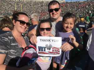 The Miller Family attended University of Notre Dame Fightin Irish vs. New Mexico - NCAA Football on Sep 14th 2019 via VetTix