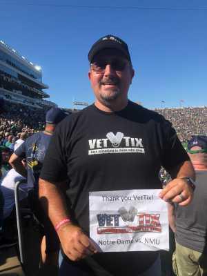 Andy attended University of Notre Dame Fightin Irish vs. New Mexico - NCAA Football on Sep 14th 2019 via VetTix
