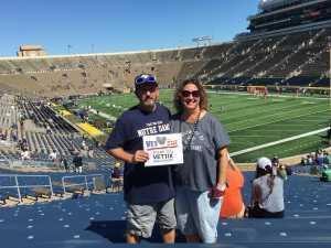 Steve attended University of Notre Dame Fightin Irish vs. New Mexico - NCAA Football on Sep 14th 2019 via VetTix