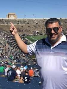 Wesley attended University of Notre Dame Fightin Irish vs. New Mexico - NCAA Football on Sep 14th 2019 via VetTix