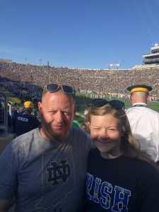 Chad attended University of Notre Dame Fightin Irish vs. New Mexico - NCAA Football on Sep 14th 2019 via VetTix