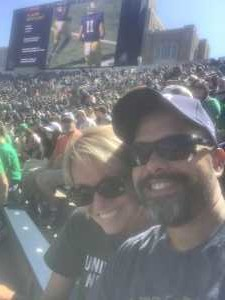 ANTHONY attended University of Notre Dame Fightin Irish vs. New Mexico - NCAA Football on Sep 14th 2019 via VetTix