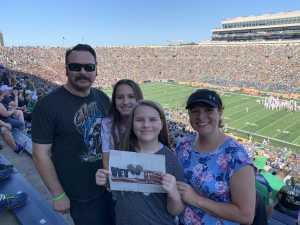 Gilbert attended University of Notre Dame Fightin Irish vs. New Mexico - NCAA Football on Sep 14th 2019 via VetTix