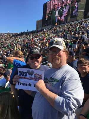 Harold attended University of Notre Dame Fightin Irish vs. New Mexico - NCAA Football on Sep 14th 2019 via VetTix
