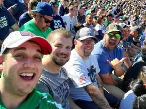 Adam Bujalski attended University of Notre Dame Fightin Irish vs. New Mexico - NCAA Football on Sep 14th 2019 via VetTix