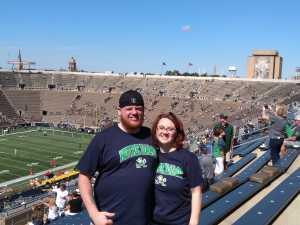 Randy attended University of Notre Dame Fightin Irish vs. New Mexico - NCAA Football on Sep 14th 2019 via VetTix