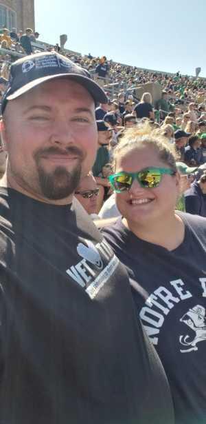 Jonathan Ray attended University of Notre Dame Fightin Irish vs. New Mexico - NCAA Football on Sep 14th 2019 via VetTix