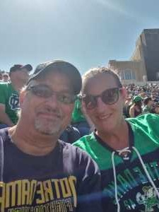 Pete attended University of Notre Dame Fightin Irish vs. New Mexico - NCAA Football on Sep 14th 2019 via VetTix