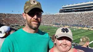 Raymond attended University of Notre Dame Fightin Irish vs. New Mexico - NCAA Football on Sep 14th 2019 via VetTix