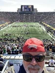 BW attended University of Notre Dame Fightin Irish vs. New Mexico - NCAA Football on Sep 14th 2019 via VetTix