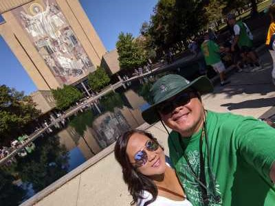 Arnel attended University of Notre Dame Fightin Irish vs. New Mexico - NCAA Football on Sep 14th 2019 via VetTix