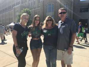 Claudia attended University of Notre Dame Fightin Irish vs. New Mexico - NCAA Football on Sep 14th 2019 via VetTix