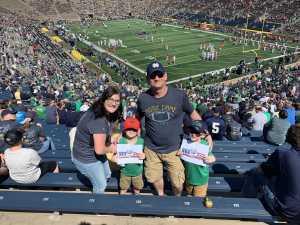 Christopher attended University of Notre Dame Fightin Irish vs. New Mexico - NCAA Football on Sep 14th 2019 via VetTix