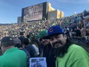 Daniel attended University of Notre Dame Fightin Irish vs. New Mexico - NCAA Football on Sep 14th 2019 via VetTix