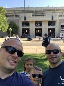 Antonio attended University of Notre Dame Fightin Irish vs. New Mexico - NCAA Football on Sep 14th 2019 via VetTix