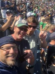 Todd attended University of Notre Dame Fightin Irish vs. New Mexico - NCAA Football on Sep 14th 2019 via VetTix