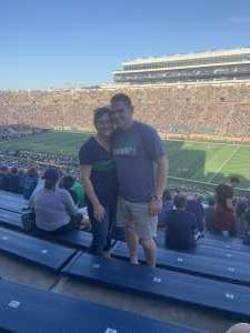Tyler attended University of Notre Dame Fightin Irish vs. New Mexico - NCAA Football on Sep 14th 2019 via VetTix