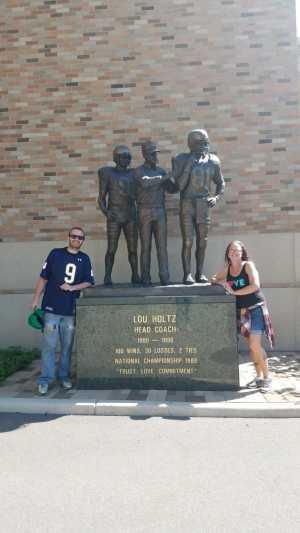kelly attended University of Notre Dame Fightin Irish vs. New Mexico - NCAA Football on Sep 14th 2019 via VetTix